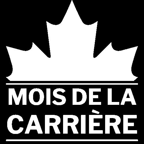 Le logo blanc de Mois de la carrière